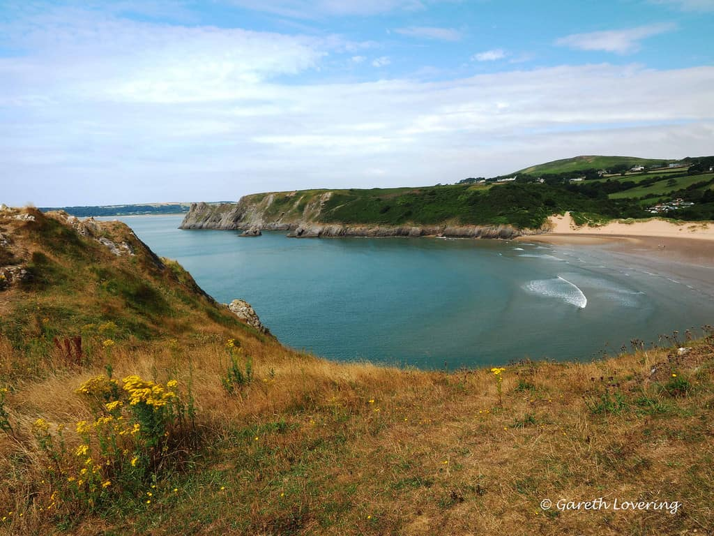 Three Cliffs bay, Swansea bay