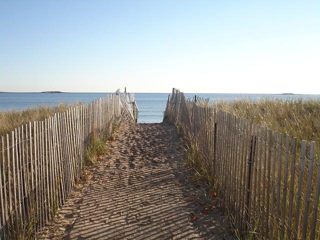 Coast Path through sand dunes