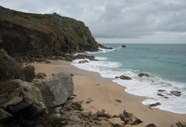 Porth Chapel beach Cornwall