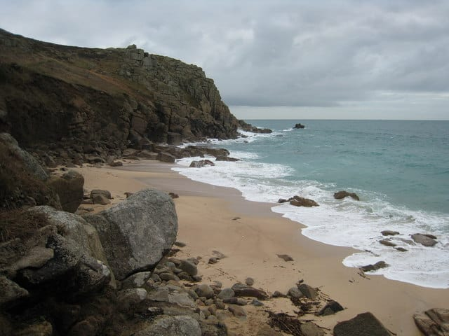 Unspoilt Sand Along The UK's Rugged Coastline