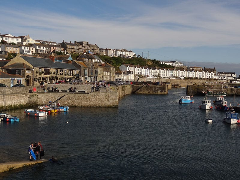 Porthleven harbour front
