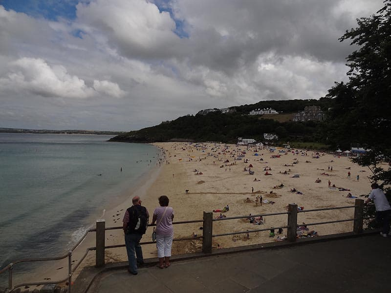 Porthminster beach in the early evening