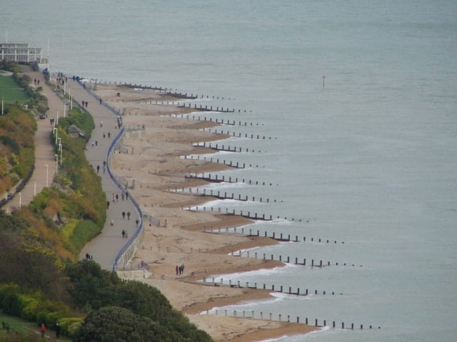 Western Parade beach, Eastbourne, East Sussex