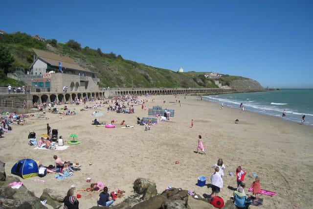Sunny Sands beach, Folkestone, Kent