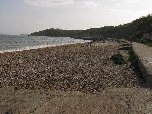 The Warren beach, Folkestone, Kent