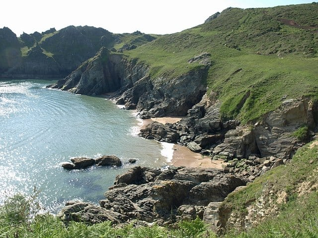 Elender Cove beach, Salcombe, Devon