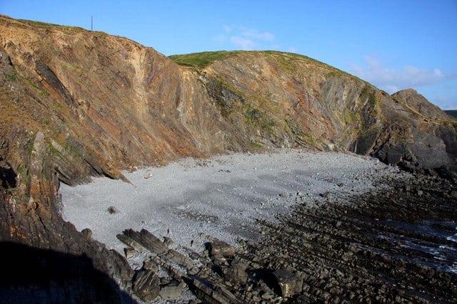 Hartland Quay beach, Bideford, Devon