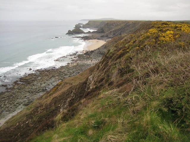 North Cliffs Deadmans Cove beach, St Ives, Cornwall
