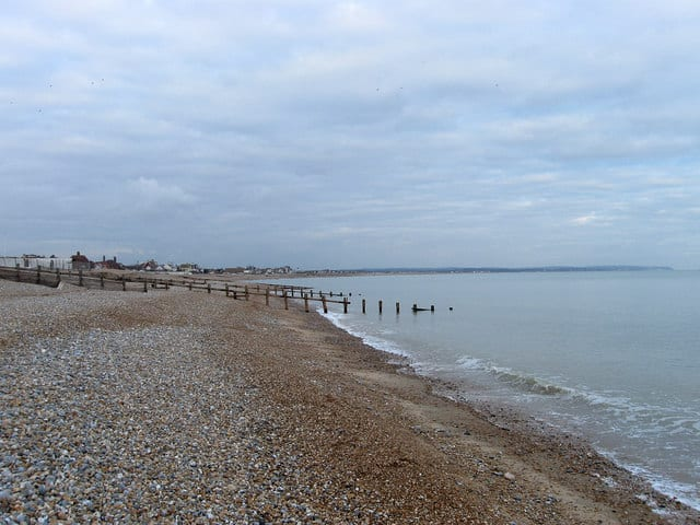 Pevensey Bay beach, Eastbourne, East Sussex