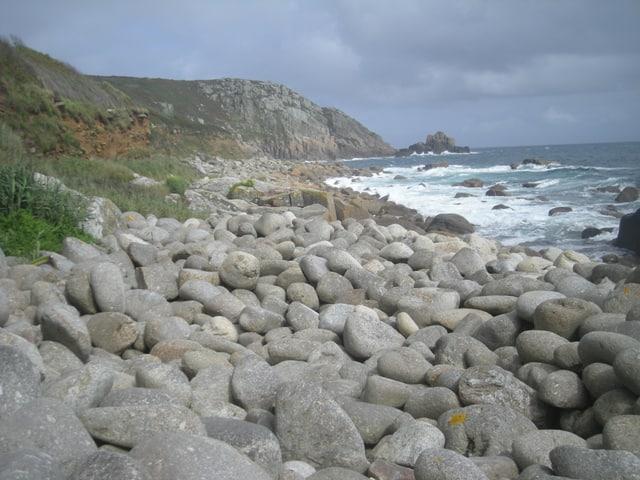 St Loy beach, Treen, Cornwall