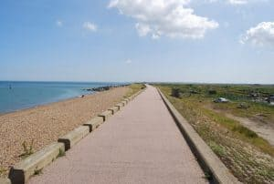 Reculver beach, Herne Bay, Kent