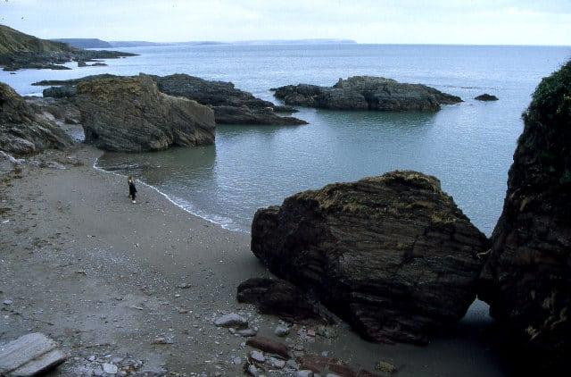 Stoke or Row Cove beach, Plymouth, Devon