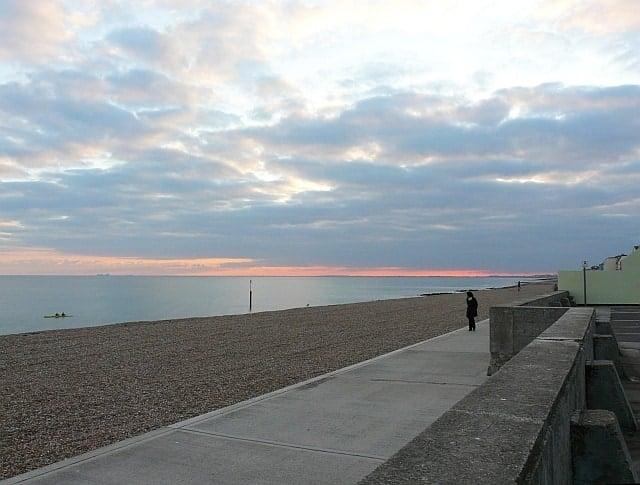 Sandgate beach, Folkestone, Kent
