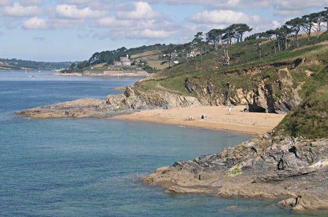 Great Molunan and Little Molunan beaches, St Mawes, Cornwall