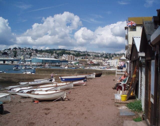 Teignmouth Back beach, Teignmouth, Devon