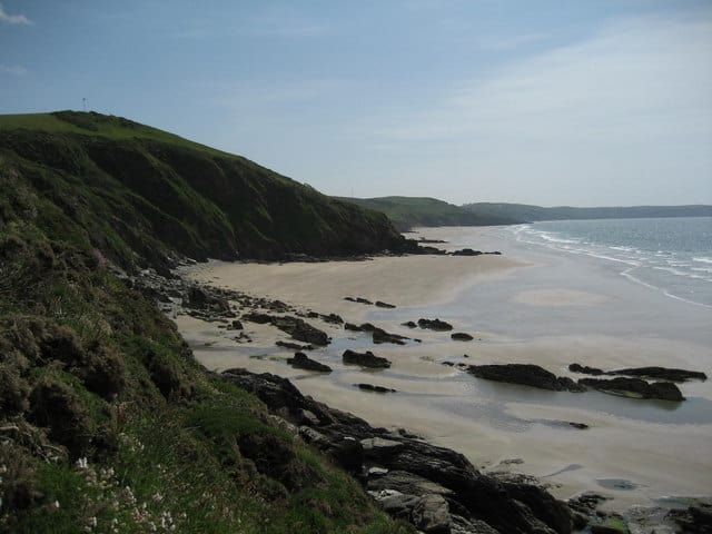 Long Sands or Tregantle Cliff beach, Tregantle, Cornwall