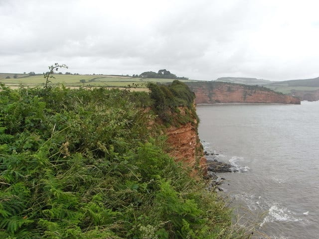 Chiselbury Bay beach, Otterton, Devon