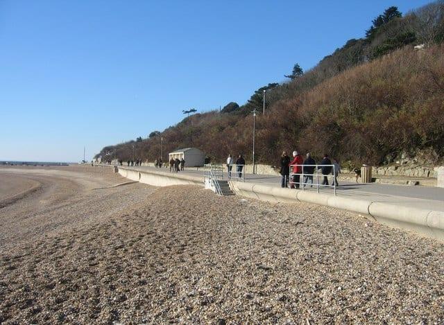 Lower Leas Coastal Park beach, Folkestone, Kent