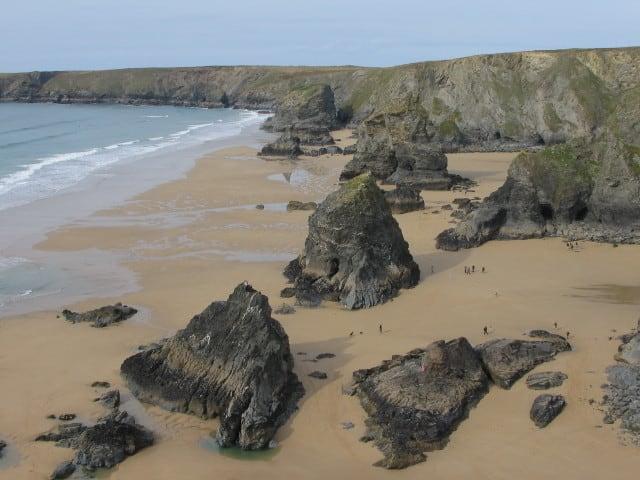 Carnewas and Bedruthan Steps beach, Wadebridge, Cornwall