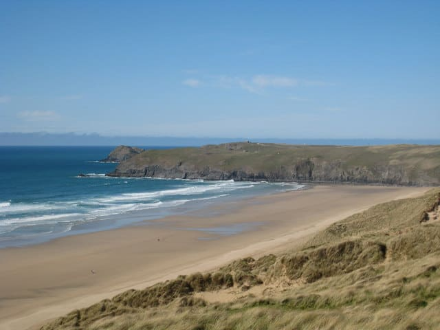 Penhale Sands beach, Perranporth, Cornwall