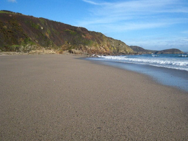 Pentewan beach, Pentewan, Cornwall