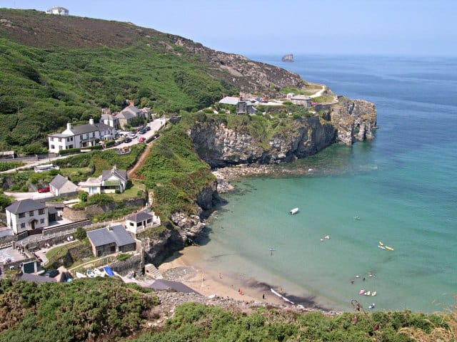 Trevaunance Cove beach, St Agnes, Cornwall