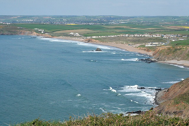 Widemouth Sands beach, Bude, Cornwall
