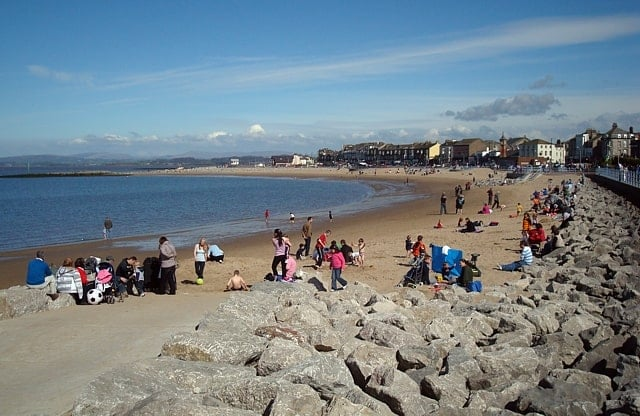 Morecambe North beach, Morecambe, Lancashire