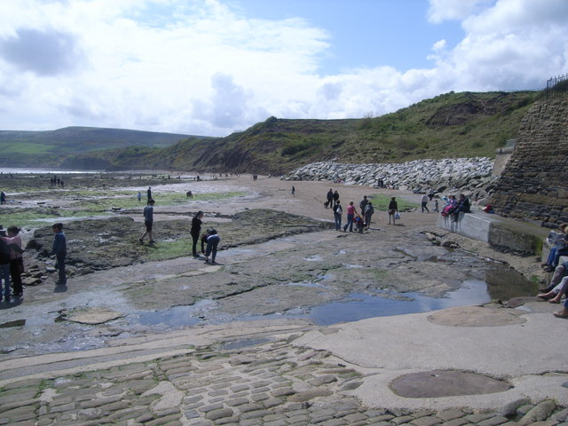 Robin Hoods Bay beach, Whitby, North Yorkshire