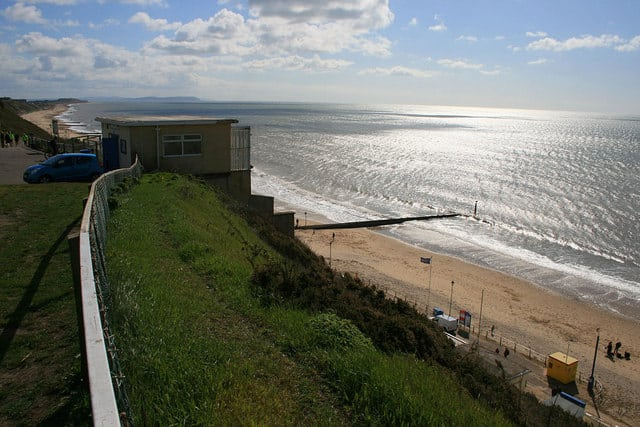 Fishermans Walk beach, Bournemouth, Dorset
