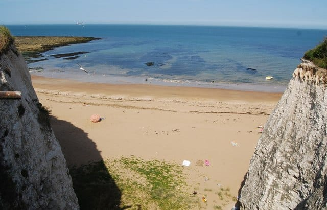 Kingsgate Bay beach, Broadstairs, Kent