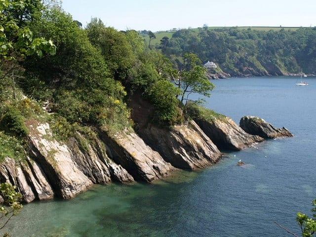 Sugary Cove beach, Dartmouth, devon