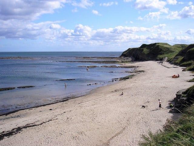 Fishermans Haven beach, Berwick-upon-Tweed, Northumberland