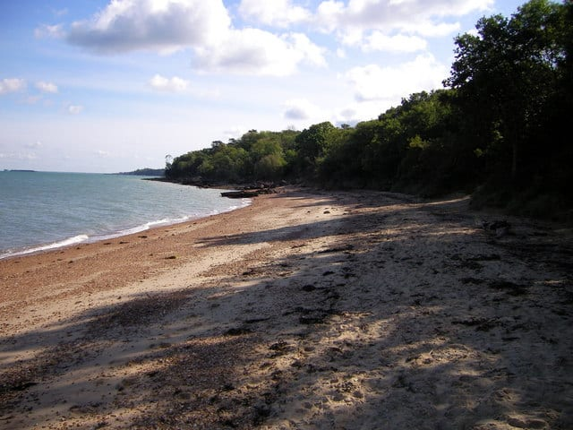 Wood Bay beach, Fishbourne, Isle of Wight