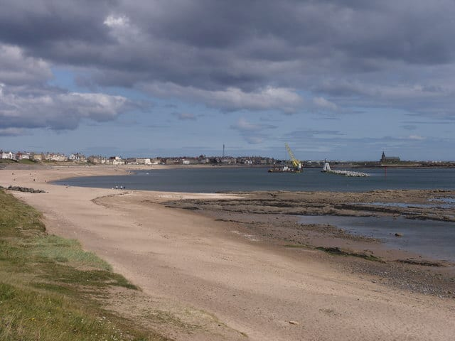 Newbiggin Bay beach, Newbiggin-by-the-sea, Northumberland