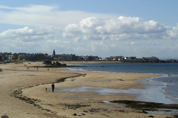 Milsey Bay beach, North Berwick, East Lothian