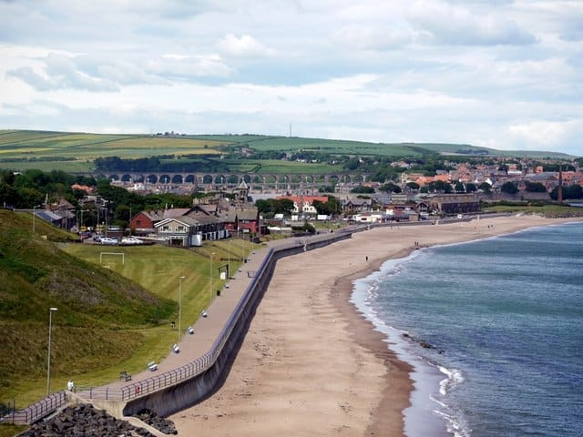 Spittal beach, Berwick-upon-Tweed, Northumberland