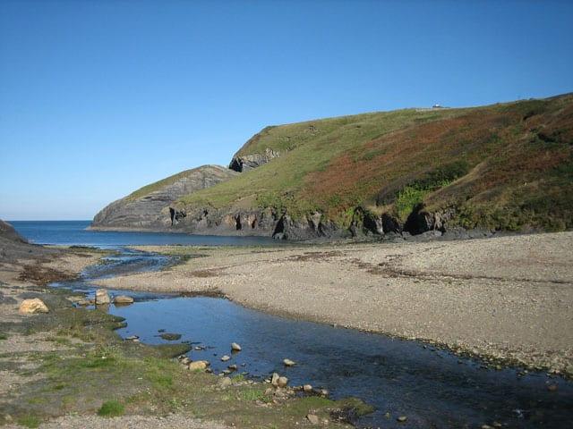 Ceibwr Bay beach, Cardigan, Ceredigion