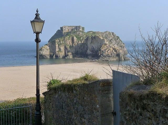 Tenby Castle beach, Tenby, Pembrokeshire