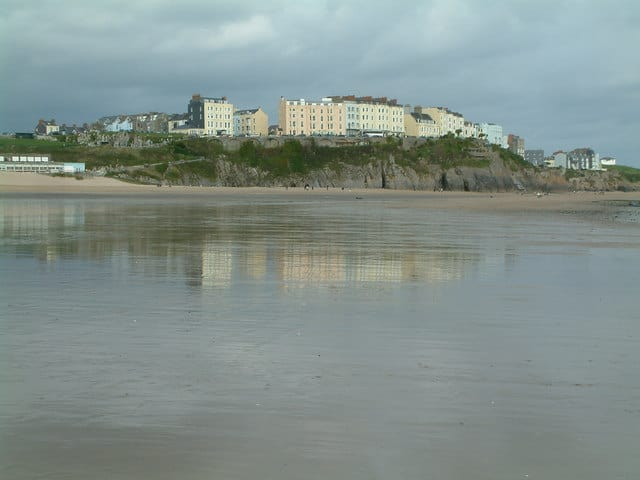 Tenby in Pembrokeshire for 4 kms of unspoilt beach this Summer!