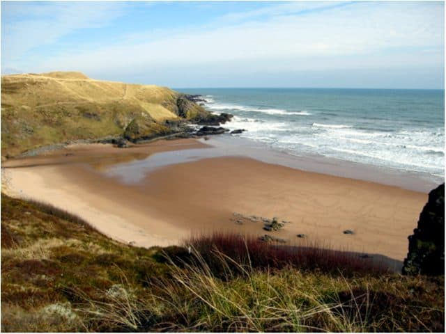 Hackley Bay beach, Collieston, Aberdeenshire