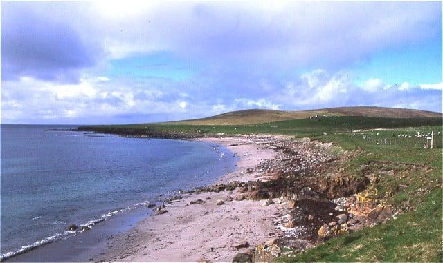 Kirk Sands beach, Papa Stour, Shetland Islands