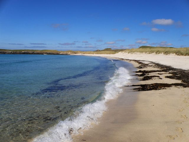 Sands of Brekon beach, Isle of Yell, Shetland Islands