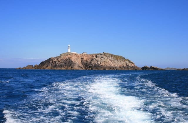 Round Island Lighthouse, Isles of Scilly, Cornwall