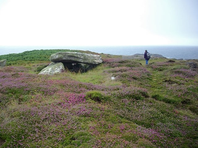Porth Hellick Down Burial Chamber, Isles of Scilly, Cornwall