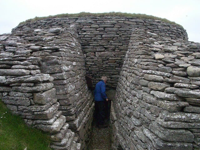 Quoyness Chambered Cairn, Sanday, Orkney Islands