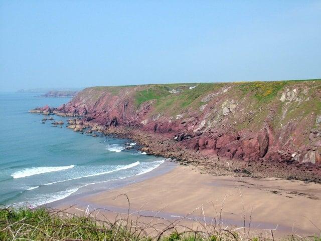 Westdale Bay beach, Dale, Pembrokeshire, Wales