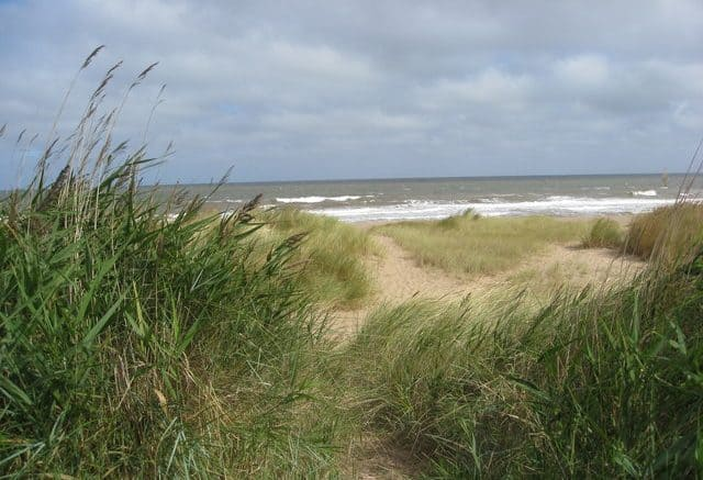 Anderby Creek beach, Skegness, Lincolnshire