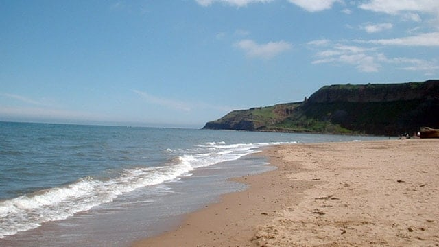 Cayton Bay beach, Scarborough, North Yorkshire