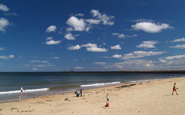 Roker beach, Sunderland, Tyne and Wear